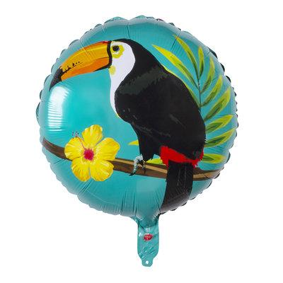 Folie ballon Toekan dubbelzijdig twee kleuren 45 cm
