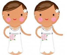 Twee bruidjes 101 cm