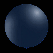 10 stuks - Decoratieve ballonnen - 28 cm - metallic donker blauw / navy blue professionele kwaliteit