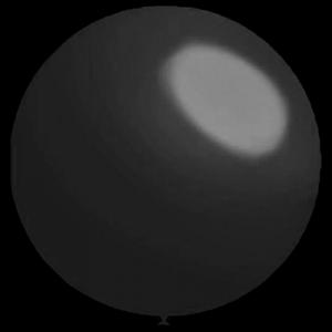 3 stuks Mega grote zwarte ballonnen 90 cm