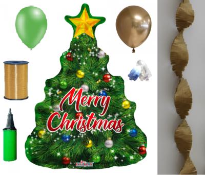 Versierpakket kerst met ballonnen