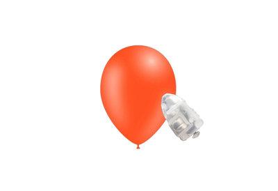 5 stuks ledverlichte Feestballonnen oranje 26 cm pastel met losse LED-lampjes