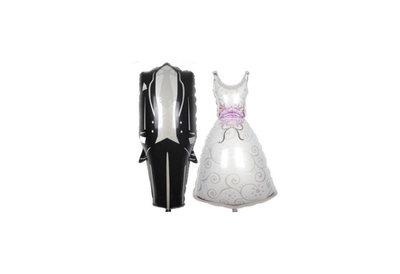 Een kostuum en jurk 113 cm