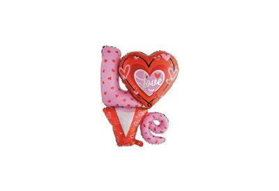 Folie ballon met hart love you 91*81 cm