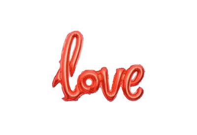 Folie ballon rood als tekst love 108*65.5 cm