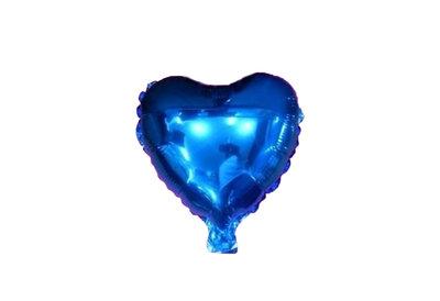 45 cm blauwe hartvormige folie ballon van hoge kwaliteit. Per stuk verpakt.