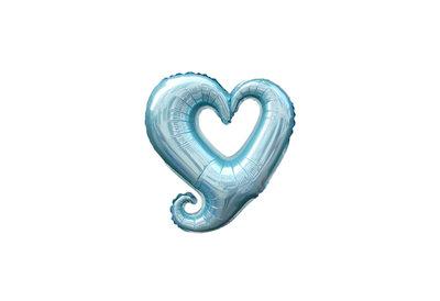 45 cm donker-blauwe open hartvormige folie ballon van hoge kwaliteit