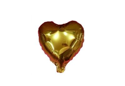 45 cm gouden hartvormige folie ballon van hoge kwaliteit