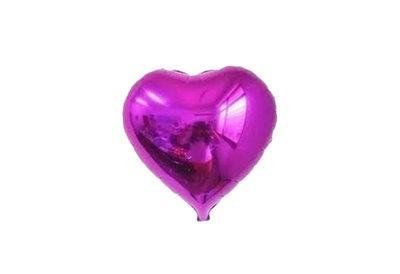 45 cm paarse hartvormige folie ballon van hoge kwaliteit