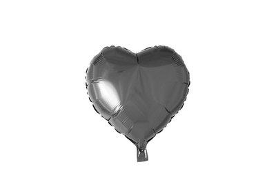 Grote ballon doorsnee 46 cm hart zwart leuk voor halloween