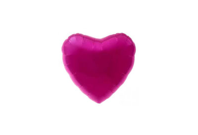 75 cm lichter fuchsia hartvormige folie ballon van hoge kwaliteit