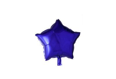 Grote ballon doorsnee 46 cm ster paars