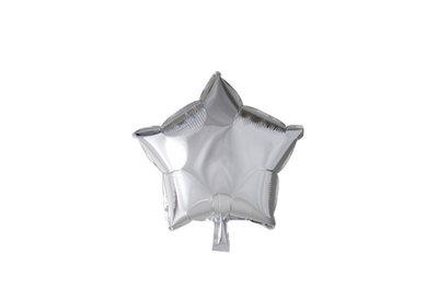 Grote ballon doorsnee 46 cm ster zilver