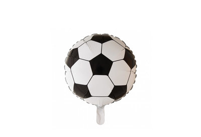 Ronde folie ballon als voetbal 46 cm doorsnee
