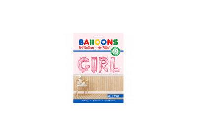 Folie ballon baby girl in letters