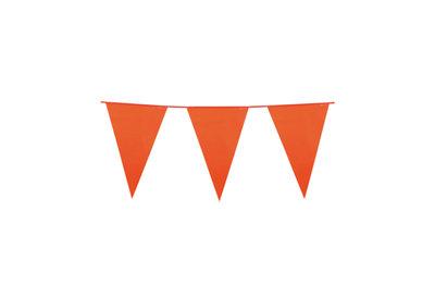 Vlaggen slinger met oranje vlaggen (30x45 cm) leuk voor halloween