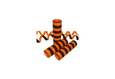 Serpentine Brandvertragend 20x 4 meter zwart/oranje. Leuk voor Halloween.