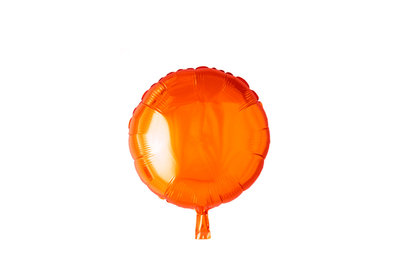 Grote ballon doorsnee 46 cm rond oranje leuk voor halloween