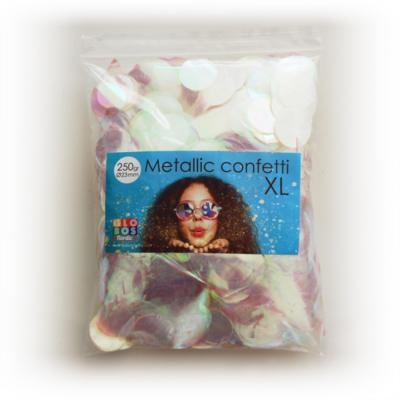 Confetti metallic round 23mm - 250 gram - iridescent