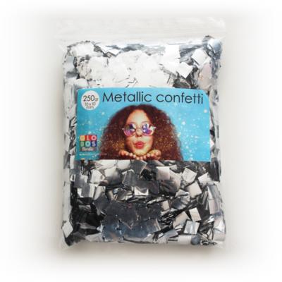 confetti square 10x10mm - silver