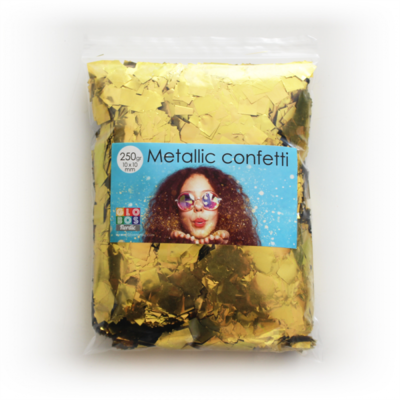 confetti square 10x10mm - gold