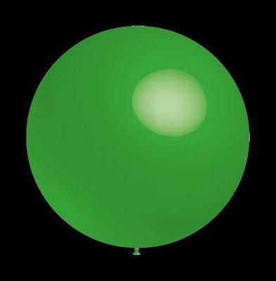 5 stuks led verlichte Decoratieballonnen groen 30 cm met losse LED-lampjes