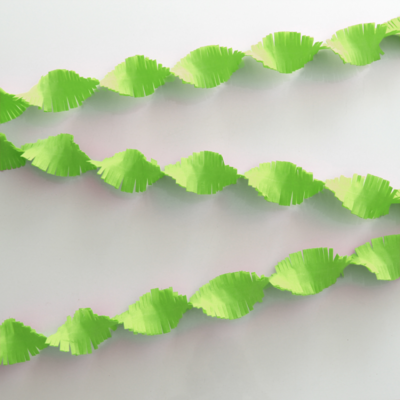 Crepe Garland 6m - apple green