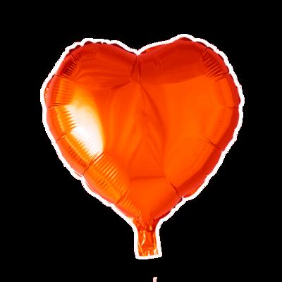 Grote ballon doorsnee 46 cm hart oranje leuk voor