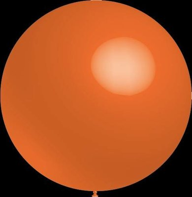 3 stuks Mega grote oranje ballonnen 90 cm