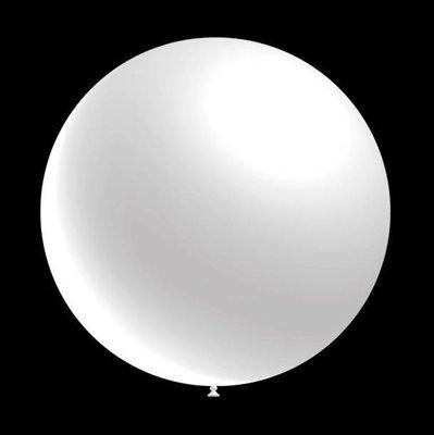 25 stuks - Decoratie ballon metallic wit 28 cm professionele kwaliteit