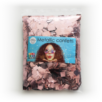 confetti vierkant 10x10mm - rose goud