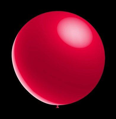100 stuks - Decoratieve ballonnen - 28 cm - metallic red professionele kwaliteit