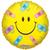 Folie ballon gele smiley met pleisters 46 cm doorsnee