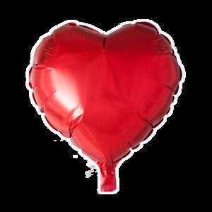 Folieballon hartvormig rood per 3 stuks