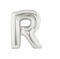 letterballon - 40 cm - zilver - R