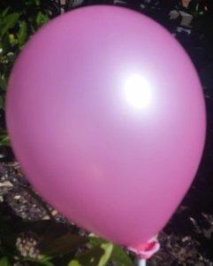 Licht roze parelmoer metallic ballon 30 cm hoge kwaliteit