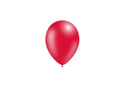 10 stuks - Feestballonnen metallic rood 26 cm professionele kwaliteit