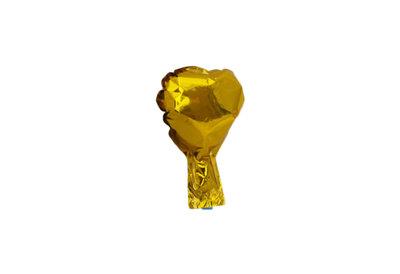 10 stuks zelfsluitende folie hartballonnetjes 10 cm goud