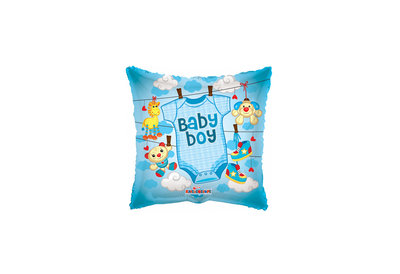 Folie ballon baby boy met baby shirt