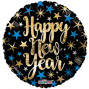 Folie ballon Happy New Year 46 cm groot