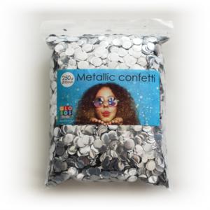 Confetti metallic round 10mm - 250 gram - silver
