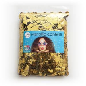 Confetti metallic round 10mm - 250 gram - gold