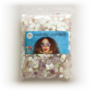 Confetti metallic round 10mm - 250 gram - iridescent