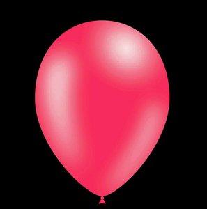 100 stuks - Metallic decoratieballonnen fuchsia 28 cm professionele kwaliteit