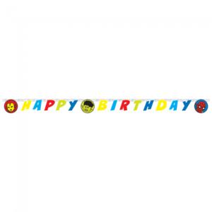 """Happy Birthday"" Die-Cut Banner- Avengers Team Power"