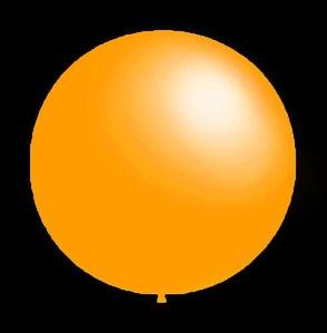 Decoratieve ballonnen - 30 cm - donker geel professionele kwaliteit