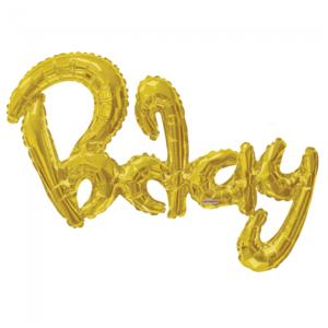 Folie ballon xl Bday goud 91,4 cm groot