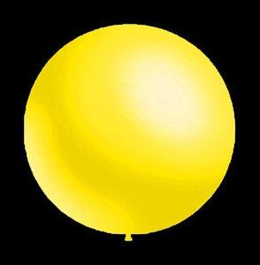 Decoratieve ballonnen - 30 cm - metallic geel professionele kwaliteit