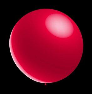 Decoratieve ballonnen - 30 cm - metallic red professionele kwaliteit