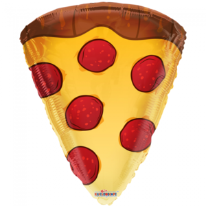 Folie ballon als pizza stuk 46 cm groot